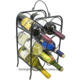 6 Bottle Metal Wine Rack Freestanding Wine Shelf for Tabletops