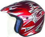 Motorcycle Helmet 3/4 Open Face Half Helmet with Full Face Shield Visor