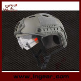 Tactical Pj Bulletproof Helmet Combat Military Helmet with Clear Visor