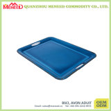 Blue Color Large Size Melamine Tray with Handles