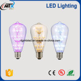 Starry LED decorative bulb series with UL, CE, RoHS E26/27 2W equal 25-40W warm light