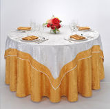 Microfiber Hotel Restaurant Jacquard Banquet Table Clothes