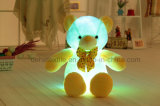 New Style LED Inductive Teddy Bear Stuffed Animals Plush Toy Colorful Shining Teddy Bear Christmas Gift for Kids