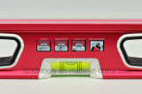 Red Color Professional Spirit Level with V-Grooved Bottom (700910)
