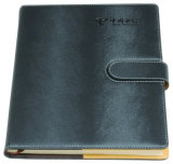 Office Supply Hardcover Custom Leather Notebook with Bookmark