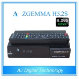 Higher Speed CPU Zgemma H5.2s Linux OS Enigma2 Dual Core Hevc/H. 265 DVB-S2/S2 Twin Tuenrs