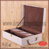 Factory Custom Design PU Leather Gift Box for Wine Bottles
