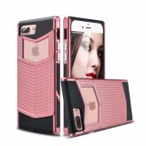 Pink Anti-Slip Shockproof Armor Protective Defender Case for iPhone 7plus