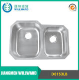 Stainless Steel Double Bowl Moulding Sink for Kitchen