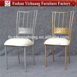 2017 New Style Wholesale Gold and White Stacking Wedding Chair for Event and Banquet (YC-A396)