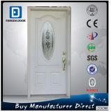 Bathroom Steel 3/4 Oval Glass Prehung Door