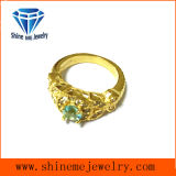 Fashion Jewelry Gold Plated with Stone Casting Ring