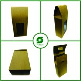 Recycled Brown Kraft Paper Box with Window