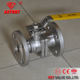 ISO Flanged Stainless Steel 2PC Ball Valve with Locking Handle