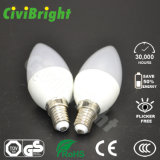 2835 SMD C37 6W Candle Light Flame Light