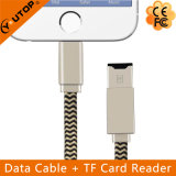 Lightning Data Cable + OTG Card Reader USB Flash Drive for iPhone (YT-RC001)