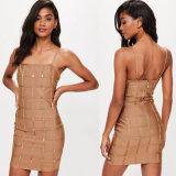 Bandage Square Neck Mini Dress