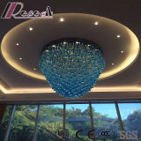 Blue Glass Water Drop Project Ceiling Lamp with Lobby