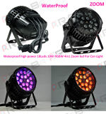 Outdoor 18X10W RGBW 4in1 LED PAR Light with Zoom
