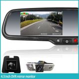 Car 1080P DVR Rearview Mirror with GPS Tracker, Seamless Recording, Lane Departure System, Auto-Dimming, Parking Sensor, G-Sensor, Motion Detection for All Car