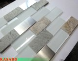 Fancy Metal and Stone and Glass Mixed Mosaic Tile Wall Decoration (KSL135142)