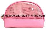 Pink Mesh with Matching Color PU Cosmetic Bag / Fashion Bag (KCC91)