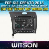 Witson Car DVD for KIA Cerato 2013 Car DVD GPS 1080P DSP Capactive Screen WiFi 3G Front DVR Camera