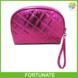 Pink PU Clutch Bag with Handle for Ladies