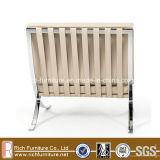 Stainless Steel Frame Metal Barcelona PU Chair 1seater