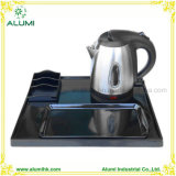 1L 304 Stainless Steel Electric Kettle Tray Set for Hotel