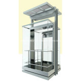 Hsgq-1415-Square Type Sightseeing Elevators with Full Glass Cabin Wall