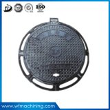 En124 C250 D400 E600 F900 Round Ductile Cast Iron Manhole Cover Decorative Iron Sand Casting Manhole Cover for Cast Circular Manhole
