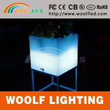 Modern Design Illuminated Glowing LED Cube Flower Pot