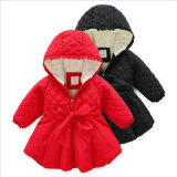 Girl Wintera-Line Coat with Bowknot for Kid Clothes