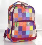 Multicolor Checker 900d Polyester Backpack of Double Shoulder Strap (BS140118E5)