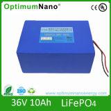 LiFePO4 36V 10ah Battery for 200W-500W E-Bike