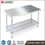 Hotel Restaurant Commercial Kitchen Equipment Stainless Steel Top Working Table 304#