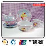 6PCS Children Tableware in Ceramic