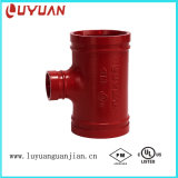 """UL Listed, FM Approved, Grooved Reducing Tee 6""""X4"""""""