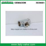 Customized Quality Brass Polishing Forged Equal Tee (AV-BF-8011)