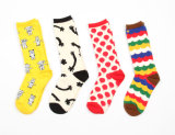 Womens Cotton Crew Happy Socks (WA0151)