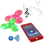 Mini Bluetooth Music Fidget Spinner LED Light Sensory Fidgets Autism Adhd EDC Spinners Hand Anti Stress Funny Toys