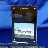 6X8 Inches Magnetic Perspex Photo Frame with Black Side