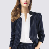 Fashion Business Lady Office Strip Suit for Ladies