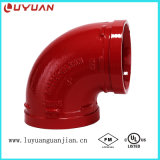 90 Angle Elbow with FM UL Ce Approval for Fire Fighting Sprinkler System
