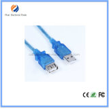 Od5.0mm Extension Cable Transparent Blue 28AWG 3m USB 2.0