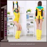 Sexy Adult Woman Yellow Dog Cartoon Costume (5876)