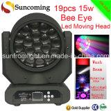 19PCS X 15W New Version LED Moving Head Light Big Eye Beam Wash Effect