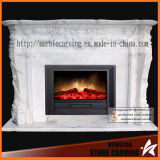 Stone Sculpture Marble Heater Fireplace Surround for Home Decoration