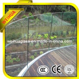 4-19mm Clear/Colored/Stained Flat/Curved Tempered/Laminated Glass Railing
